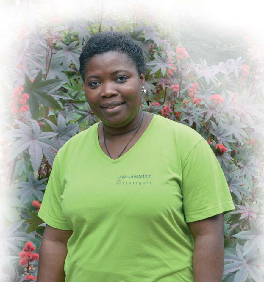 Mitarbeiterin aus Kamerun